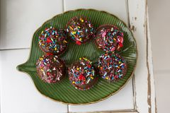 Sweet chocolate Brigadeiro royalty free stock image
