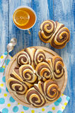 Sweet chocolate buns Butterfly on the table Royalty Free Stock Photos