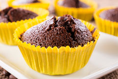 Sweet chocolate cake Stock Images