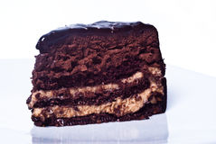 Sweet chocolate cake Royalty Free Stock Photos