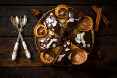Sweet chocolate cake Royalty Free Stock Photo