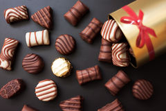 Sweet chocolate candies Royalty Free Stock Images