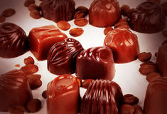 Sweet chocolate candies Stock Images