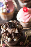 Sweet chocolate cap cake Royalty Free Stock Photo