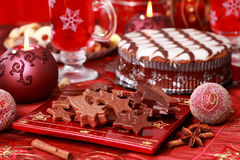 Sweet chocolate for Christmas Stock Image