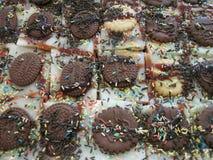 Sweet chocolate cookies dessert Royalty Free Stock Image