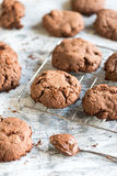 Sweet chocolate cream cookies Stock Photo