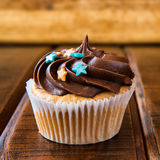Sweet chocolate cupcake Royalty Free Stock Image