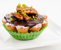 Sweet Chocolate Cupcake Stock Photography
