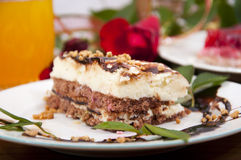 Sweet Chocolate Dessert With Nuts Royalty Free Stock Images