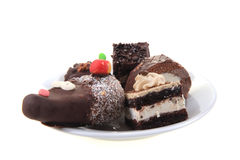 Sweet chocolate desserts Royalty Free Stock Images