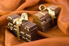 Sweet chocolate gift Stock Images