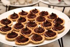 Sweet chocolate mini tart Stock Images