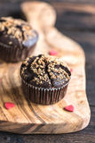 Sweet chocolate muffins Royalty Free Stock Images