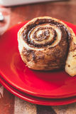 Sweet chocolate roll Stock Image