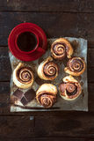 Sweet chocolate rolls Stock Image
