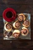 Sweet chocolate rolls Stock Image