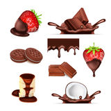 Sweet chocolate set Royalty Free Stock Photography