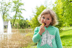 Sweet chocolate snack, Luxembourg. Spring Royalty Free Stock Image