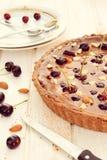 Sweet chocolate tart cake Royalty Free Stock Image