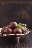 Sweet chocolate truffle Stock Images