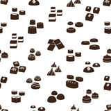 Sweet chocolate truffles icons seamless pattern eps10 Royalty Free Stock Photos