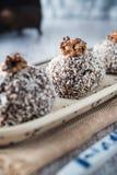 Sweet chocolate truffles Stock Image