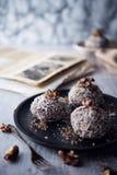 Sweet chocolate truffles Stock Images
