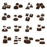 Sweet chocolate truffles styles icons set eps10. Sweet chocolate truffles styles icons set Stock Photography