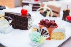 Sweet chocolate and vanila cake Stock Image