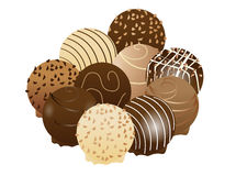 Sweet chocolate. Vector illustration of different kind of chocolate Royalty Free Stock Image