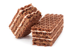 Sweet chocolate wafers Royalty Free Stock Image