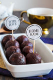 Sweet chocolates truffles, hand made, dessert Stock Photo