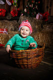 Sweet Christmas baby Royalty Free Stock Photos