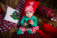 Sweet Christmas baby Royalty Free Stock Images