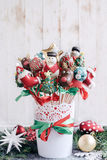 Sweet Christmas cake pops Royalty Free Stock Photo