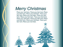 Sweet christmas card with xmas tree  Royalty Free Stock Images