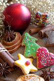 Sweet christmas cookies Royalty Free Stock Photos