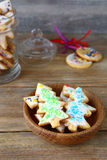 Sweet Christmas cookies in a bowl Royalty Free Stock Photo