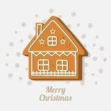Sweet Gingerbread cookie in the shape of a house. Vector illustration. Sweet Christmas Gingerbread cookie in the shape of a house. The concept of a holiday Royalty Free Stock Photo