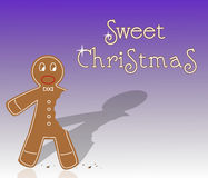 Sweet christmas gingerbread Stock Photos