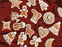 Sweet christmas gingerbreads Royalty Free Stock Photo