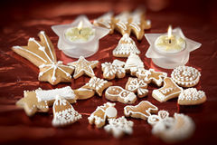 Sweet christmas gingerbreads Stock Photography