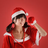Sweet Christmas girl Royalty Free Stock Photos
