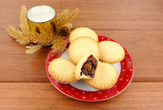 Sweet Christmas Mince Pies Royalty Free Stock Photography