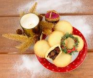 Sweet Christmas Mince Pies Stock Image