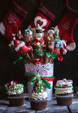 Sweet Christmas table Royalty Free Stock Photography