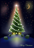 Sweet Christmas tree home Royalty Free Stock Image
