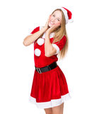 Sweet christmas woman Royalty Free Stock Photography