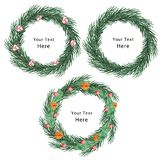 Sweet Christmas Wreath Background royalty free illustration